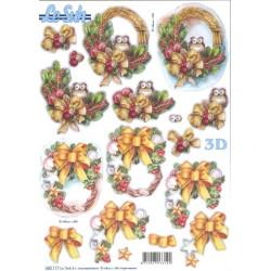 Carterie 3D Prédécoupée - Couronnes de noël 680117