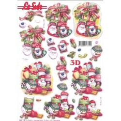 Carterie 3D Prédécoupée - Cadeaux de noël 680118