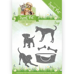 Die - Amy Design - Sweet Pet - Chats et chiens 3,7 x 3,7 et 3,5 x 3,7 cm