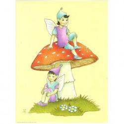 Image 3D - astro 553 - 24x30 - lutins sur champignon