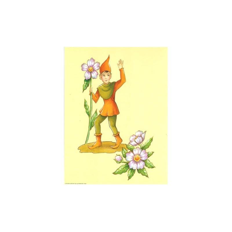 Image pour tableaux 3d ASTRO 559 - 24X30 - Lutin avec Fleurs - Aux bleuets Loisirs créatifs à Reims