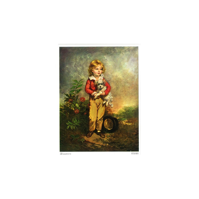 Image pour tableaux 3d AUGUSTA 008 - 18x24 - Petit garçon avec chien - Aux Bleuets Loisirs créatifs à Reims