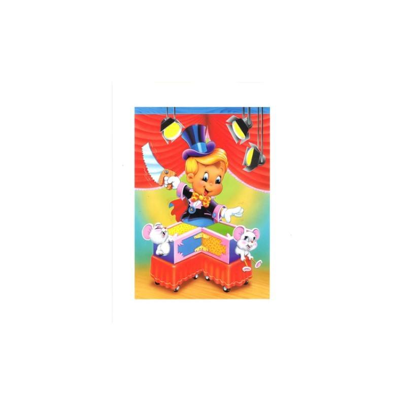 Image 3D - VENEZIA 265 - 24X30 - Garçon magicien avec souris - Aux Bleuets Loisirs créatifs à Reims