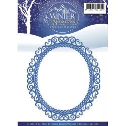 Die - Precious Marieke -  Winter Wonderland - Cadre ovale 10.5 x 12 cm
