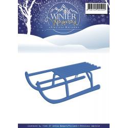 Die - Precious Marieke -  Winter Wonderland - Luge 8.5 x 4.5 cm