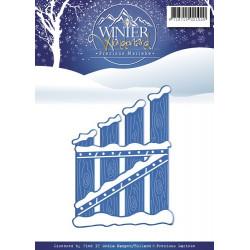 Die - Precious Marieke -  Winter Wonderland - Portail enneigé 5.5 x 7.5 cm