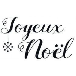 "TAMPON D ""Joyeux Noël"" 6x4 cm"