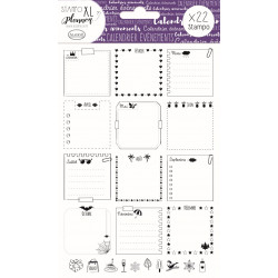 STAMPO Planner Page calendrier Set de 22 tampons
