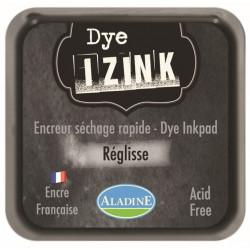 ENCREUR IZINK DYE MARRON NOIR REGLISSE 7x7 cm