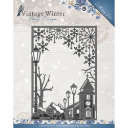 Die - Amy Design - Cadre Village hiver 9,7 x 14 cm.