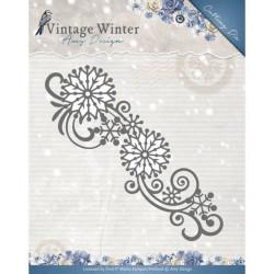 Die - Amy Design - Snowflake Swirl Bordure 13,4 x 4,5 cm.