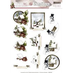 Carterie 3D Prédécoupée Noël - Precious Marieke - Paysages Hiver sb10048