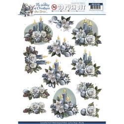 Carterie 3D Prédécoupée Noël - Amy Design - Bougies de Noël SB10189