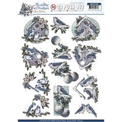 Carterie 3D Prédécoupée Noël - Amy Design - Oiseaux en Hiver SB10190