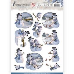 Carterie 3D Prédécoupée Noël - Amy Design - Bonhommes de neige sb10214