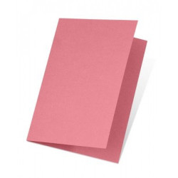 Carte double E6 250x180 220 g paquet de 5 - corail