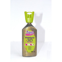 DIAMS 3D, 100ML, PAILLETÉE OR