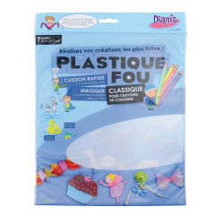 PLASTIQUE FOU DIAMS 7 FEUILLES : Transparent abrasé