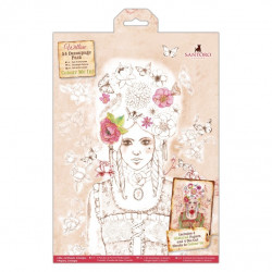 Pack Découpage A4 - Willow Colour Me In