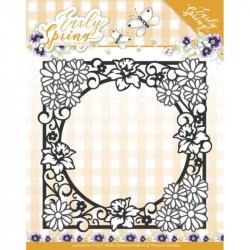 Die - Precious Marieke - Early Spring - Spring Flowers Square Frame 13.2 x 13.2 cm