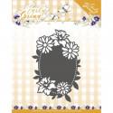 Dies - Precious Marieke - Early Spring - Etiquette ovale Fleurs de Printemps 5.8 x 8.8 cm