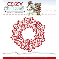 Die - Yvonne Creations - Cozy Christmas - Couronne de Noël 10.5 X 10.5 cm