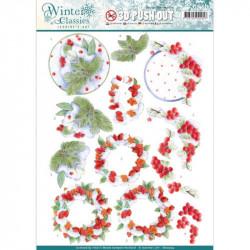 Carterie 3D Prédécoupée - Jeanine's Art - Winter Classics - Baies d'hiver