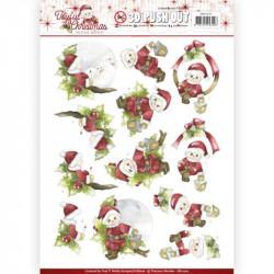 Carterie 3D Prédécoupée - Precious Marieke - Joyful Christmas - Santa sur branche