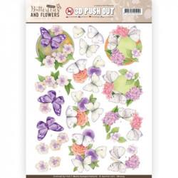 Carterie 3D Prédécoupée - Jeanine's Art - Classic Butterflies and Flowers - Papillons sur fleurs