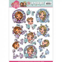 Carte 3D prédéc. - yvonne creations - sweet girls - les filles