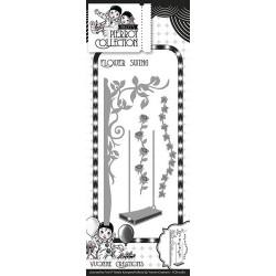 Die - Yvonne Creations - Guirlande de fleurs et balancoire 11 x 5 cm