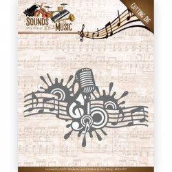 Die - Amy Design - Sounds of Music - Bordure musique 12,2 x 7,8 cm