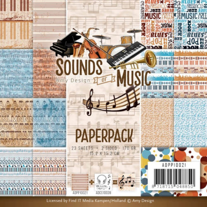 Paperpack - Amy Design - Sounds of Music 15.2 x 15.2