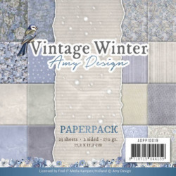 Bloc de papier - Amy design - Vintage winter 15.2 x 15.2