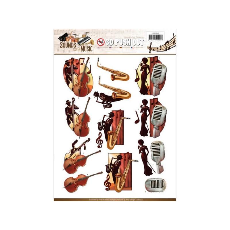 Carterie 3D Prédécoupée - Amy Design - Sounds of Music - Jazz