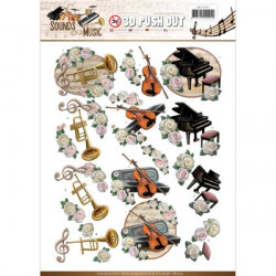 Carte 3D prédéc. - amy design - sounds of music - classic