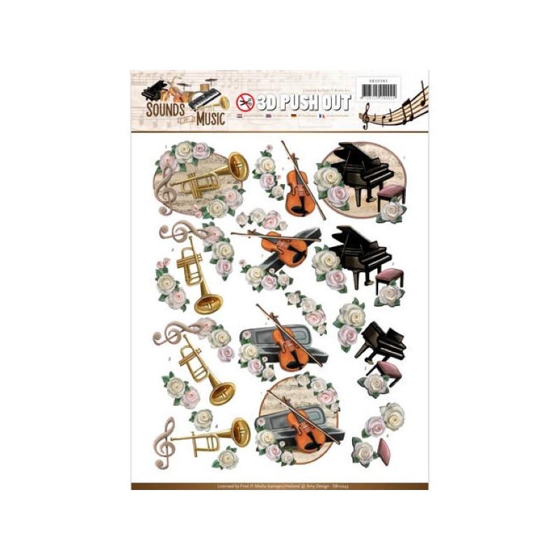 Carterie 3D Prédécoupée - Amy Design - Sounds of Music - Classic