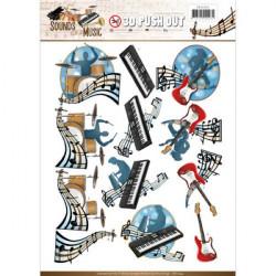 Carterie 3D Prédécoupée - Amy Design - Sounds of Music - Pop