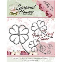 Die - precious marieke - seasonal flowers - trèfle à 4 feuilles 6 x 3.8 cm