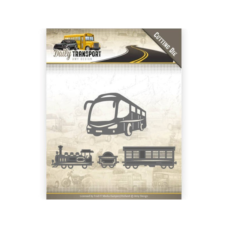 Dies - Amy Design - Daily Transport - Transport public 2,6 x 13,2 cm, 4,5 x 6,6 cm.