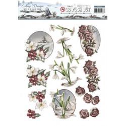 Carterie 3D Prédécoupée - Amy Design - Wintertide - Fleurs