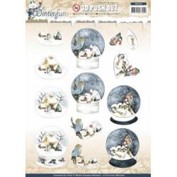 Carte 3D prédéc. - precious marieke - winterfun - paysage hiver