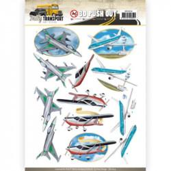Carte 3D prédéc. - amy design - daily transport - les avions