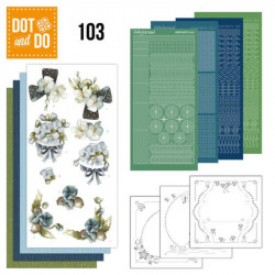 Dot and do 103 - kit Carte 3D - fleurs fantastiques