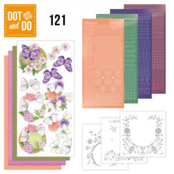 Dot and Do 121 - Kit Carterie 3D - Papillons et fleurs