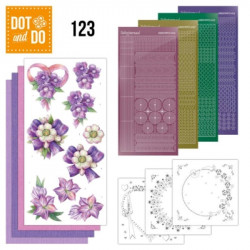 Dot and Do 123 - Kit Carterie 3D - Fleurs pourpres