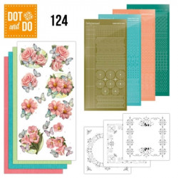 Dot and Do 124 - Kit Carterie 3D - Fleurs roses et papillons