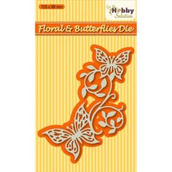 Die Fleur et Papillon 10.5 x 9.8 cm