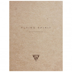 Flying Spirit Carnet Cousu 16x21 Ivoire 120p Kraft