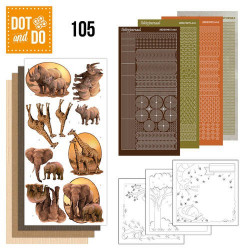 Dot and Do 105 - Kit Carterie 3D - Animaux sauvages